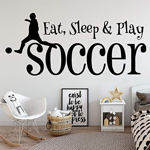 Fútbol Comiendo Juguetes para Dormir extraíble Arte Vinilo...