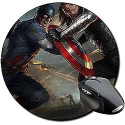Capitan America Captain America B Alfombrilla Redonda Round Mousepad PC