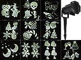 eLander LED Projektionslampe [10 austauschbare Muster] rotierende Effekte für Halloween Karneval Weihnachten, Innen & Außen, Garten ,Wand- und Außenbeleuchtung