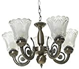 gojanta Antique Design 5 Light Brass Chandelier (Clear)