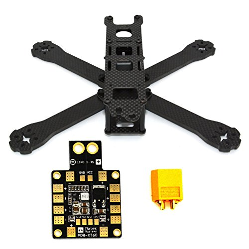 LHI 220-RX H210 H220 FPV Racing Quadcopter Frame Carbon Fiber +PDB XT60 Power distribution board 5V 12V Output Support 6 ESC (Aluminium Motor Mount)