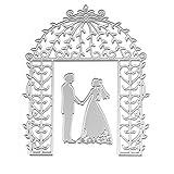 suweqi fustelle Stencil in metallo forma Presentazione per scheda, presentare la decorazione DIY Scrapbooking rilievo Album Fai da te matrimonio biglietto d' auguri (sposa sposo matrimonio)
