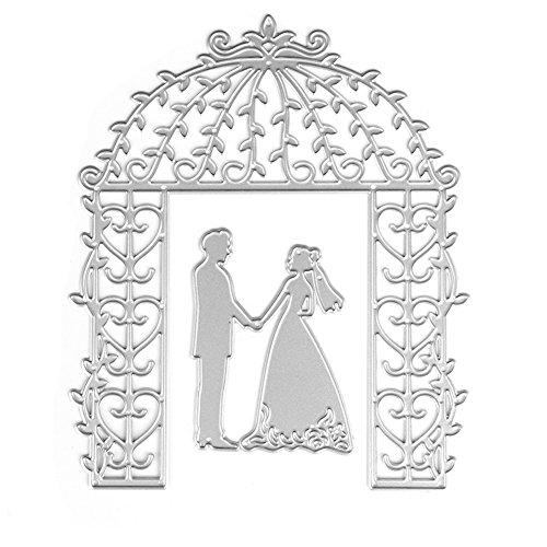 lonen Metall Stanzformen Braut Bräutigam Hochzeit Silber Schneiden Schablonen Für DIY Cutting Dies Scrapbooking Album, Schneiden Schablonen Papier Karten Sammelalbum Deko ()