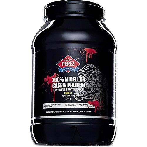 100% Micellar Casein Protein 2200 g - mikrofiltriertes - zeitgesteuert resorbierbares Eiweiß - Zeitverzögerte Proteinversorgung der Muskelzellen - Vanille