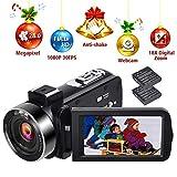 Videocamera HD 1080P 30FPS Videocamera Digitale per Vlogging Videocamere Autoscatto 24.0MP con Telecomando e Funzione Webcam