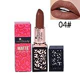 Rouge à Lèvres Sonnena 2018 Mode Cosmétiques Sexy Lèvres Matte Durable Lip Gloss Party Gloss 24 Teintes Rouge (Standard, D)