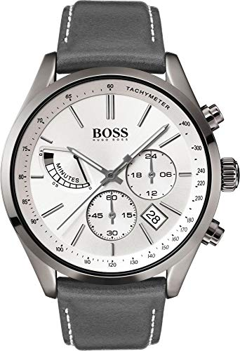 a7041526d Hugo Boss Mens Chronograph Quartz Watch with Leather Strap 1513633 ...