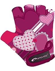 Guantes de bicicleta para niños Guantes, diseñado y fabricado para proteger la manos y refinada Gallinas Ojos. Spokey Heart Glove, XS