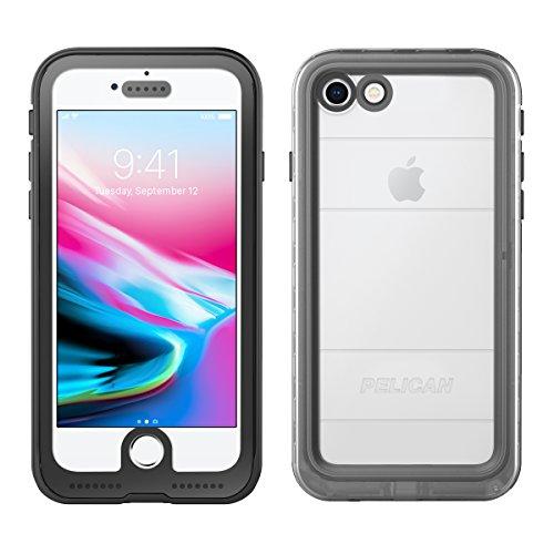 Pelican Marine iPhone X wasserdichte Hülle, iPhone 8, durchsichtig/schwarz -