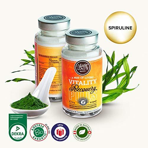 Regeneration und Stärkung - Organic SPIRULINA (Komplex aus Mineralien und Vitaminen – für eine starke Gesundheit) - zur Stärkung des Immunsystems - starkes Antioxidans - 60 Kapseln