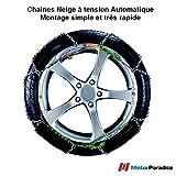 Chaines neige Automatiques 9 mm pour pneus 175/70R16 - Haute Qualité - Montage Facile et Rapide!