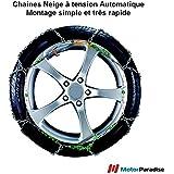Chaines neige Automatiques 9 mm pour pneus 265/75R14 - Haute Qualité - Montage Facile et Rapide!