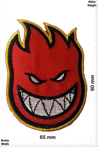 Patch - Firehead - Fire Smile - Feuerkopf - Fun Patch - Adult - Weste - Patches - Aufnäher Embleme Bügelbild Aufbügler
