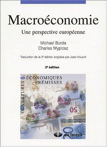 Macroéconomie. Une perspective européenne, 3ème édition