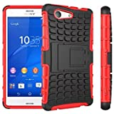 Proteja su teléfono, TPU + PC híbrida armadura de caucho resistente soportar casos de tapa dura para Sony Xperia z2 / z3 / z3 Mini / Z4 / z4 Mini / e4 / E4G ( Color : Rojo , Modelos Compatibles : Xperia Z2A )