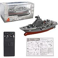 MXECO 2.4GHZ Mini RC Barco Control Remoto RC portaaviones Modelo de Juguete Los Buques de Guerra para la Vida Infantil de baño de los niños de Juguete Juego ...