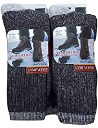 6 Pairs Lambs Wool Merino Blend Hiking Work Socks MSQ1740 6-11