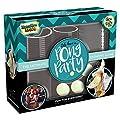 KreativeKraft Jeu à Boire Pong Party Pour Soirée Festive | Coffret 48 Pièces Avec Balles de Ping Pong Fluorescentes, Verres à Bières, Coupes à Champagne et Gobelets En Plastique Pour Shots & Cocktails