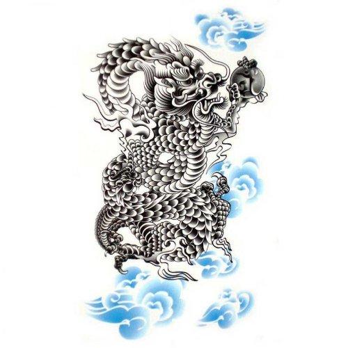 Faux étanches autocollants de tatouage dragon puissant sexy