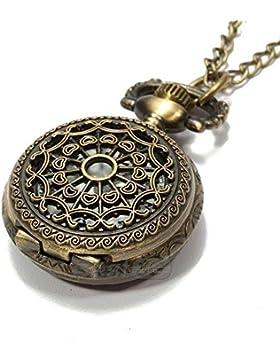 Taschen Kette Uhr Taschenuhren Kettenuhr Umhängeuhr Quarzuhren Watch Damen HOT