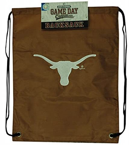 NCAA Texas Longhorns Backsack with Draw Strings and Team Logo, Medium, Team Color
