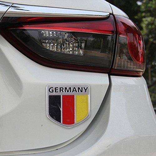 Preisvergleich Produktbild 3D Kfz Aufkleber Sticker Autoaufkleber für Germany Deutschland Flagge Fahne AUTO
