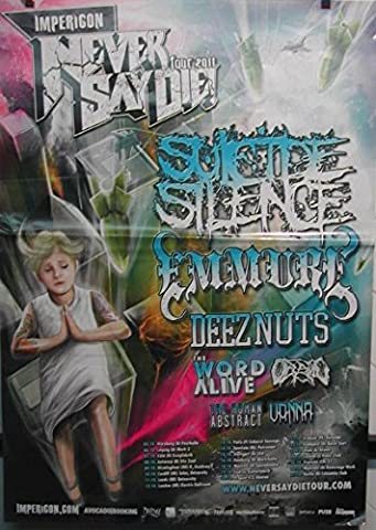 Never Say Die Tour 2011 - Suicide Silence - 60X84Cm Affiche / Poster