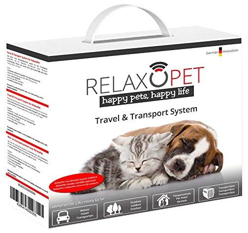 RelaxoPet Travel & Transport System   Ideal bei Reisen und Training   schützt das RelaxoPet Soundmodul   mit Befestigungsset -