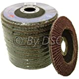 Toolzone - Disco abrasivo de láminas (12 unidades, grano 80, 115 mm x 11,43 cm)