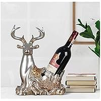 Utensilios de bar Color : Broze MZXI Reno Resina Wine Rack Crafts TV Gabinete Sala de Estar Estante de Vino Decoración Botella de Vino Rojo Soporte de exhibición