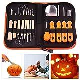 14 Pezzi Fai da Te Halloween Pumpkin Carving Kit Jack-O-Lanterns Maker con Custodia
