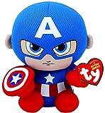 """Marvel Ty Capitán América Beanie 6 """"Juguete de Peluche"""