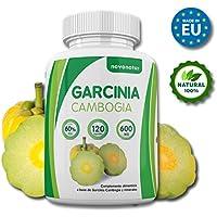 Garcinia Cambogia, 100% extrait pur de Garcinia Cambogia avec 60% de HCA, 120 gélules, suppresseur naturel d'appétit et brûleur de graisse naturel, enrichi avec du Zinc et du Chrome, supplément alimentaire qui favorise la perte de poids. NOVONATUR