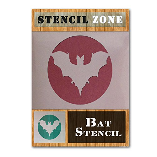Bat Halloween Mylar Malerei Kürbis-Wand-Kunst-Schablone neun (A4 Größe Stencil - Small)
