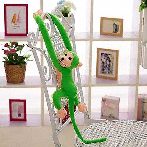 VANKER 60cm Gibbon brazo largo de la cola del mono Animales de precioso suaves cortinas que cuelgan de la felpa del juguete--Verde