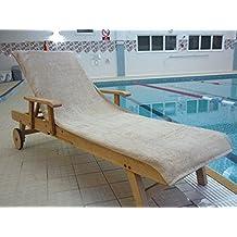 Bana Kuru - Toalla para tumbona (resistente al cloro y al sol, solapa de 30 cm, 500gsm), Mocha