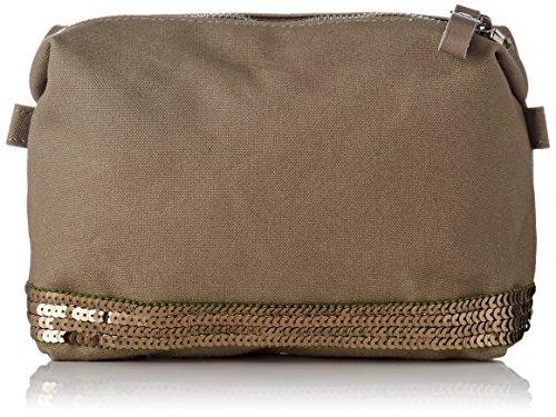 743b89640a Vanessa Bruno - Cabas Trousse Coton Et Paillettes, Pochette da giorno Donna  Verde (Safari