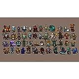 Mauspad,3D-Druck World of Warcraft Mauspad, 400 * 900 * 3mm rutschfeste wasserdichte Gamepad grün Internet-Spiel PC-Griff