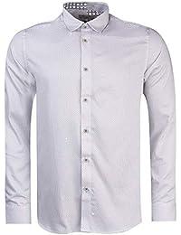 c604914dc Ted Baker Boom Micro Geo Print Long Sleeve Shirt in White