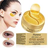 Augenpads, Eye Mask, Collagen Augenpads, 24k Gold Kollagen Augenmaske, Hydra-Gel Hauttherapie Eye Pads, Anti-age Eye Maske, Augenmasken Gegen Augenringe, Eye Hyaluron Patches, 60 Sheets