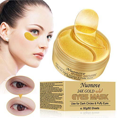 Augenpads, Eye Mask, Collagen Augenpads, 24k Gold Kollagen Augenmaske, Hydra-Gel Hauttherapie Eye Pads, Anti-age Eye Maske, Augenmasken Gegen Augenringe, Eye Hyaluron Patches, 60 Sheets