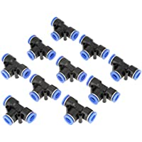 10 Unids Tubo Fitting, Tee, 10mm 3/8 T Tipo Neumático Conector Air Line Fittings Junta de tubo