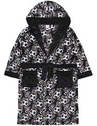Kinder Jungen Kinder Umkleide Robe Abendkleid Flanell Fleece mit Kapuze Nachtwäsche Fußball
