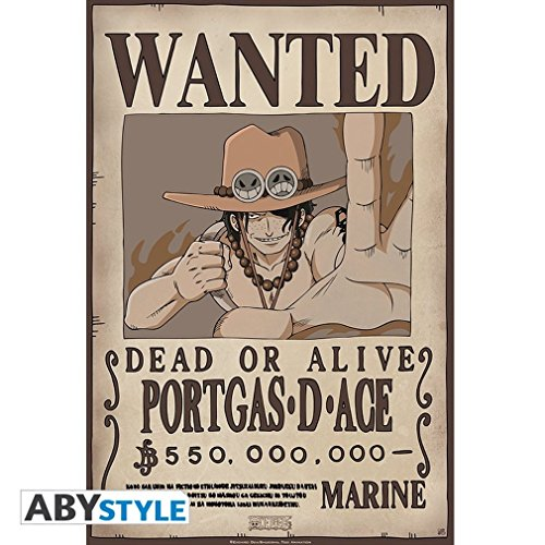 ONE PIECE Poster Wanted Ace (52x35)