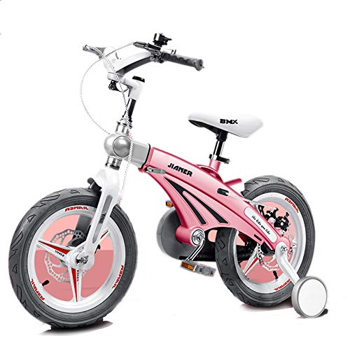 XiangYu Kinderfahrrad Kinder Fahrrad für Jungen Mädchen Reiten im Freien + Hilfsrad + Zufälliges Geschenk Pink-16inch