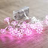 Battery Operated Sunflower Fairy Lights with 20 Pink LEDs by Lights4fun