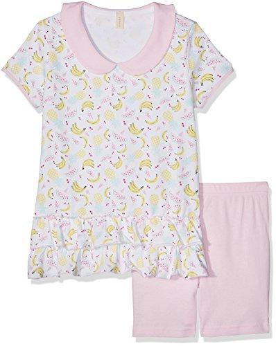 ESPRIT Bodywear Mädchen Zweiteiliger Schlafanzug 047EF7Y002, Rosa (Pink 670), 128 (Herstellergröße: 116/122)