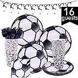 Caingmo Party-Servietten Happy Baby Shower Geburtstag Dekorieren Tischdecke Fußball Party Geschirr Set Party Supplies Einweggeschirr Pappteller und Servietten Nature