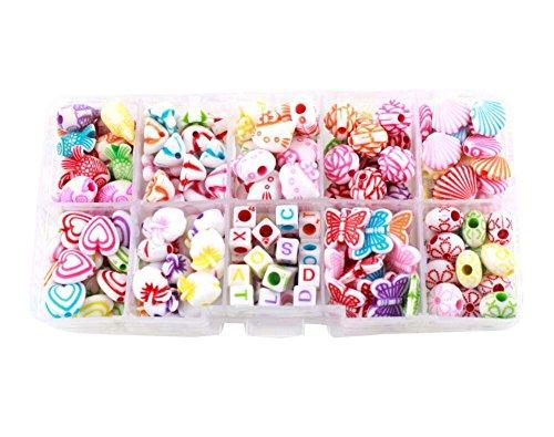 Alien Storehouse DIY Perlen Set Halskette Armband Schmuck machen Handwerk Kits für Kinder - ca. 180 Perlen - 25