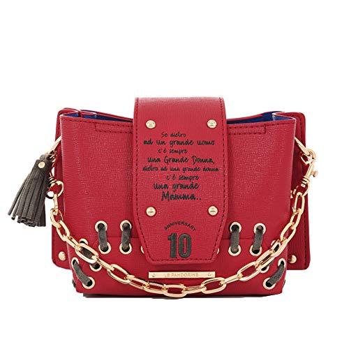 1ffcd4aa05 Le Pandorine , Sac bandoulière pour femme Rouge rouge 19.5x14x10 cm